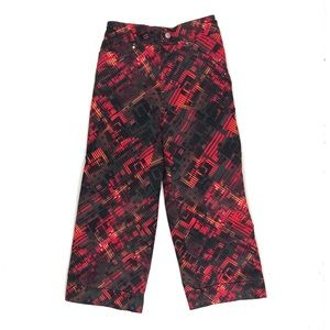 Obermeyer red and black snow pants